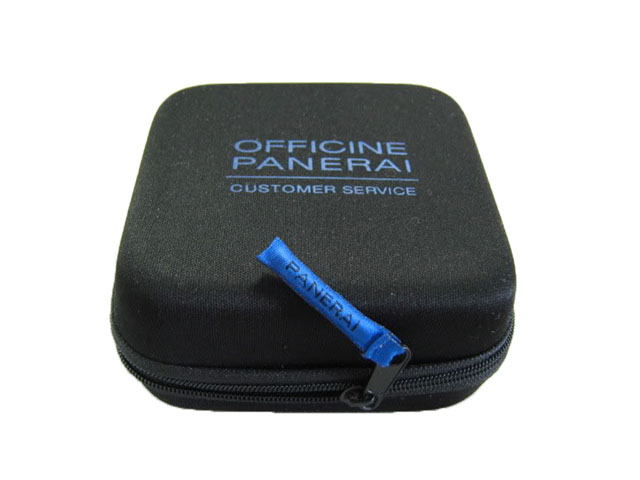 OFFICINE Panerai Molded EVA watch travel box case poly coated nylon zipper closure with embroidery puller