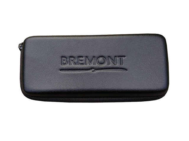 BREMONT Molded leather watch storage box case high quality with elastic band and velvet lining inside